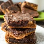 Chocolatey peanut butter brownies