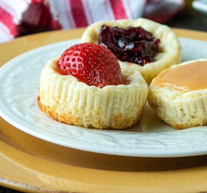 Mini Bite-Sized Cheesecakes