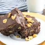 Frosted Chocolate Walnut Brownies