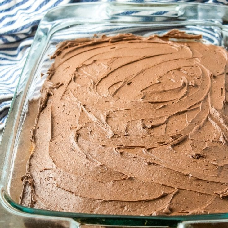 Yellowsheet Cake with Chocolate Buttercream Frosting
