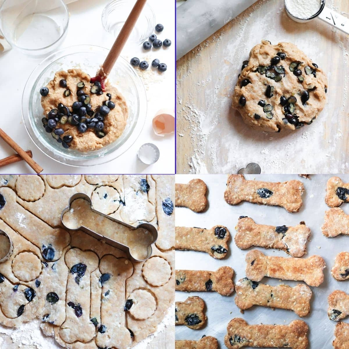 Directions: Peanut Butter Blueberry Dog Treats