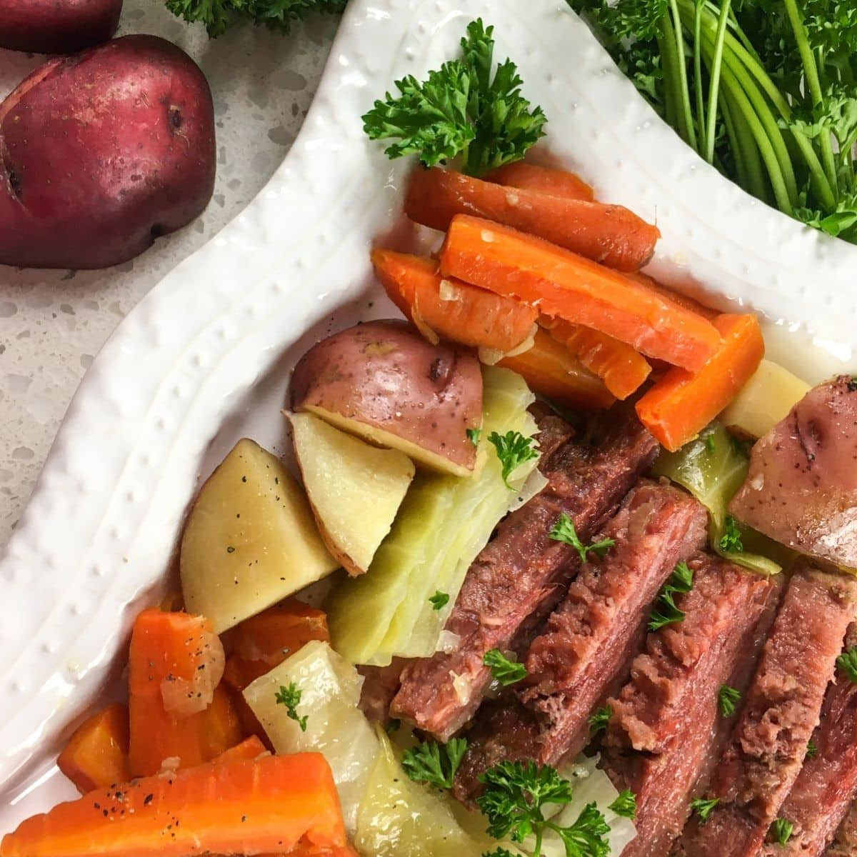 IP Corned Beef and Cabbage